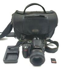 Nikon D5100 DSLR Camera w/ 50 mm Nikon Nikkor Lens AF-S 1:1.8 G Charger Case