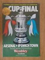 ARSENAL v IPSWICH TOWN - FA CUP FINAL - PROGRAMME 1978 - VGC