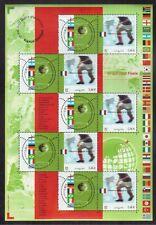 FRANCE 2002 MINT NH SOUVENIR SHEET #2891c, WORLD CUP SOCCER JAPAN/KOREA !!