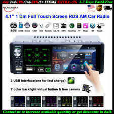 4''1 Din Car Radio Full Touch Screen 2USB RDS AM FM MP5 Player Bluetooth+Camera