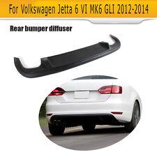 Black ABS Rear Bumper Diffuser Lips Fit for Volkswagen Jetta 6 VI MK6 GLI 12-14
