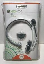 New XBOX Live 360 Microsoft White/Gray Headband Headset voice chat Authentic Mic