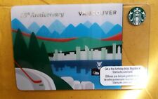 Starbucks 2010 VANCOUVER CANADA 25th Anniversary Destination card. HTF