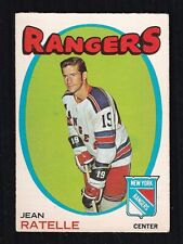 1971-72 JEAN RATELLE #97 EX OPC ** NY Rangers HALL OF FAME Star NHL Hockey Card