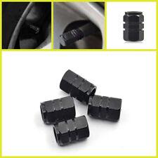 4pcs Black Aluminum Tire Valve Stem Caps Car,Truck,SUV,Motorcycle-Hot Rod