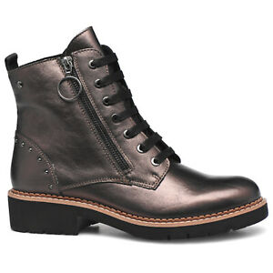 Pikolinos Womens Boots Vicar W0V Casual Zip-Up Lace-Up Ankle Leather
