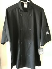 New Withtags Mercer Culinary Unisex Black Chef Jacket Coat Medium Breathable Ss A1