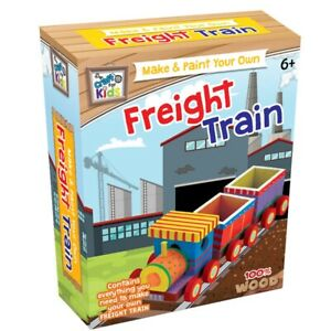 Eduk8 Build & Paint Your Own Freight Train - Craft For Kids Children Educational