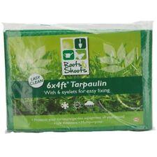 6ft X 4ft Garden Tarpaulin W/6 Steel Eyelets In Bag - Heavy Duty Waterproof