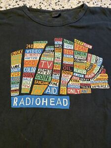 Radiohead Hail To The Thief Map Vintage T-shirt Men's XL