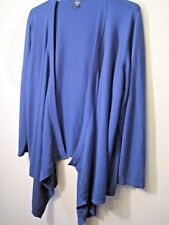 Love Denim 24/7 Open Front blue knit Tunic Top 3X 100% Acrylic by WomanWithin