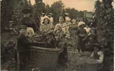 More details for odiham posted hop pickers. boy & basket. from a.f.saunders to miss tatham.