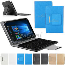 """For Onn 8.0 inch Android 8"""" Tablet 2019 Leather Case Cover w/ Wireless Keyboard"""