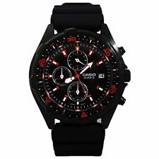 Casio AMW370B-1A1V Men's Analog Multi-Function Watch w/ Stopwatch & Date - Black