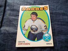 1971-72 OPC O-Pee-Chee #159 Dave Dryden Sabres - ex