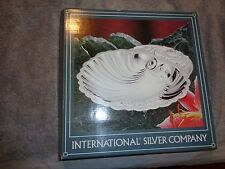 International Silver Company Footed Shell Dish - Silver Plated in Box