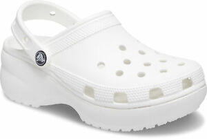crocs Absatzclog mit Fersenriemen Classic Platform Clog Women Weiß Croslite Norm