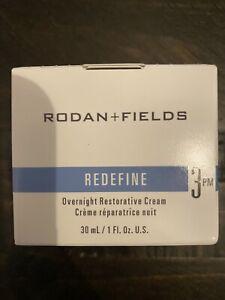 NEW RODAN + FIELDS REDEFINE OVERNIGHT RESTORATIVE CREAM STEP 3PM NIB!!