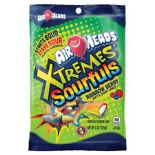 NEW SEALED AIRHEADS XTREMES SOURFULS RAINBOW BERRY SOFT & CHEWY CANDY 6 OZ