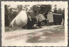 Vintage Photo Unusual Truck & Trailer Wreck 734213