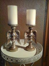Kerzenständer Kerzenhalter Engelsflügel gold Shabby