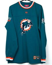 Vintage Miami Dolphins Embroidered Heavy Shirt Size M