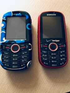 2 Samsung Intensity Verizon Slider Qwerty SCH-U450 Red Cell Phones Pre-paid