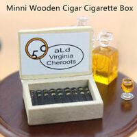 1:12 Dollhouse Miniature Wooden Box Humidor Doll House Decor HU