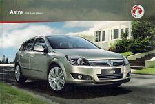 Vauxhall Astra Hatchback Sport Hatch & Estate 2008-09 UK Market Sales Brochure