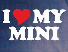 Me love/heart mi Mini Novedad car/window/bumper / laptop/wall Vinilo calcomanía / etiqueta adhesiva