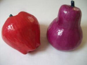 Deko - 2 Stück moderne ,interessante Früchte Höhe:17 cm  NEU