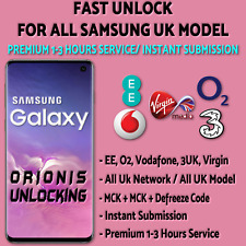 SAMSUNG UNLOCK CODE S10 S10 PLUS S9 S8 S7 S6 Edge Note 10 - EE, O2, Vodafone UK