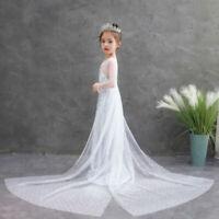Christmas Child Girls Sequins Elsa Princess Dress Cosplay Elsa Silver Sequins