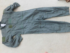 USAF NOMEX GREEN FLYER'S FLIGHT SUIT SUMMER CWU 27/P SZ 42S