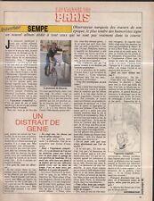 Coupure de presse Clipping 1985 Sempé (1 page)