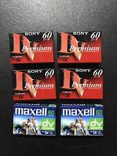 (Lot Of 6) 4 Sony, 2 Maxell 60 min Digital Mini Video Camcorder Tapes Mini DV