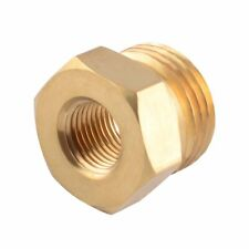 "Brass Thread Plug Adaptor Sensor 1/8"" NPT Female to M18X1.5 Male Bushing Fitting"