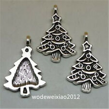 15pc Tibetan Silver Christmas tree Charm Beads Pendant Findings Wholesale  JP937