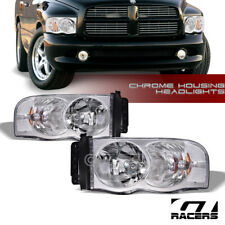 2002-2005 DODGE RAM 1500/2500 CHROME HOUSING HEADLIGHTS CORNER SIGNAL LAMPS NB