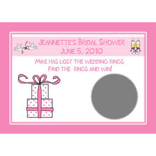 24 Personalized Bridal Shower Scratch off Cards Pink Gift Design - Custom Colors