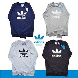 Adidas Original Mens Trefoil SWEATSHIRT Fleece Crew Neck Jumper Sweater S M L XL