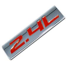 CHROME/RED METAL 2.4L ENGINE RACE MOTOR SWAP EMBLEM BADGE FOR TRUNK HOOD DOOR