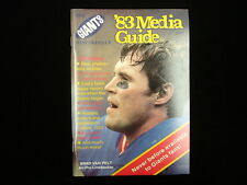 1983 New York Giants NFL Media Guide