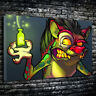 Evil Taz Dr Jekyll and Mr Hyde Horror Printed Box Canvas Picture Multiple Sizes