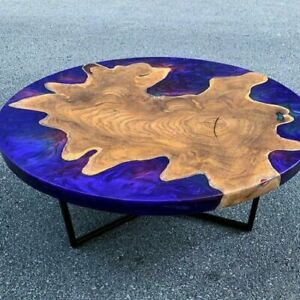 """48"""" Epoxy Resin Wooden Table Top Coffee Table / Dining / Center"""