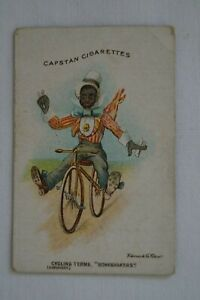 Cycling Terms Scarce 1905 Vintage Antiquarian Wills Capstan Card - Boneshakers