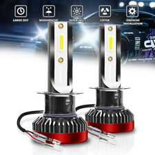 2X H1 LED Bulbs 55W Super White 6000K 10000LM LED Head Light 12V Lamp Road Legal