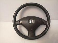 Honda Civic 92 95 BLACK Steering Wheel 3 Spoke Genuine OEM JDM Eg Ej EDM NO SRS