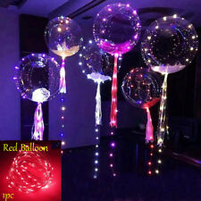LED Light Balloons Transparent Balloon Wedding Birthday Xmas Party Lights Decor Red