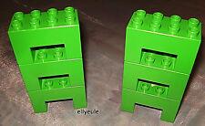 6 x Lego Duplo Pfosten Stütze Pfeiler f.Brücke Brückensteine grün